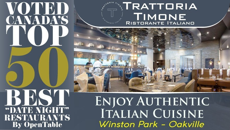 Top 50 Badge - Trattoria Timone Italian Restaurant Oakville