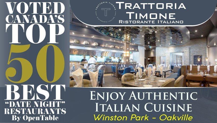 Top 50 Badge - Trattoria Timone Italian Restaurant Oakville