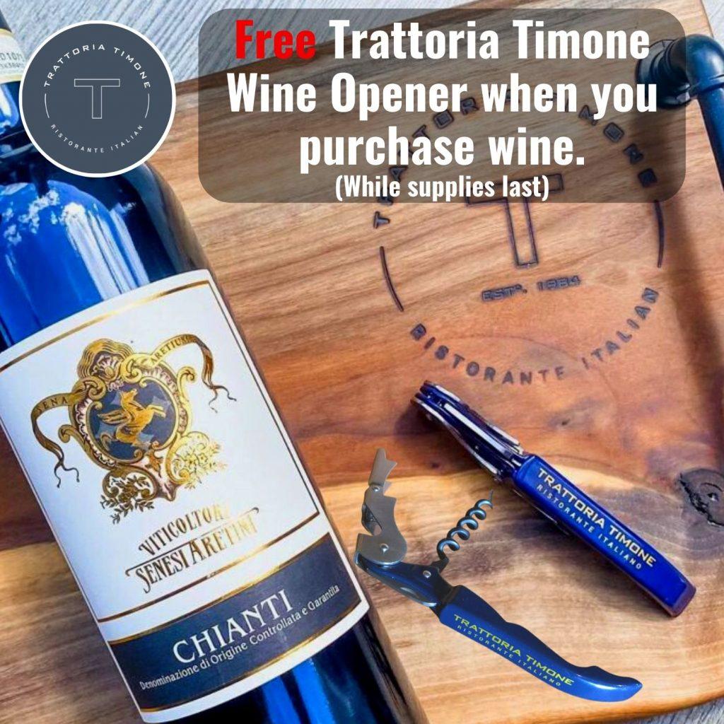 Free Trattoria Timone wine opener